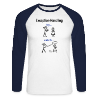 Java Exception Handling Männer Langarm-Shirt