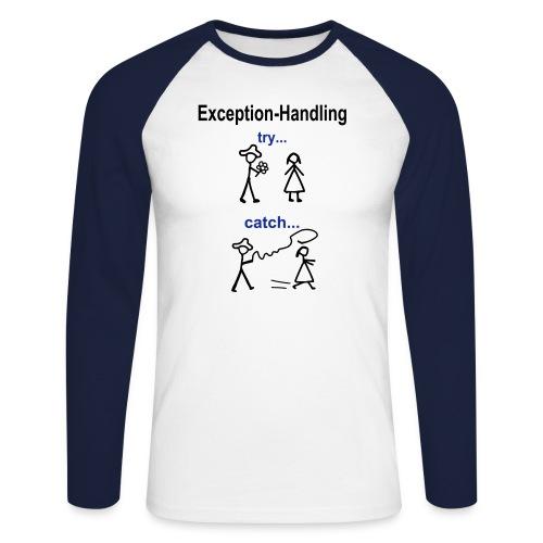 Java Exception Handling Männer Langarm-Shirt - Männer Baseballshirt langarm