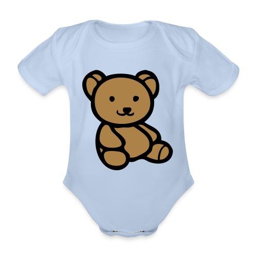 One-piece Babygrow Teddy Design - Organic Short-sleeved Baby Bodysuit