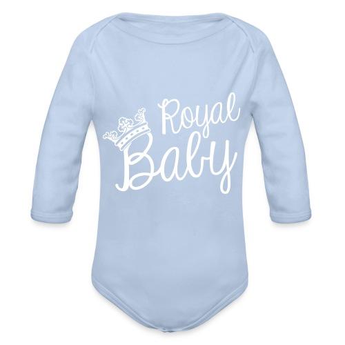 One-piece Purple Baby ''Royal Baby'' - Organic Longsleeve Baby Bodysuit