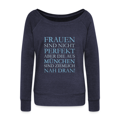 Frauen aus München (Hellblau) Pullover - Frauen Pullover mit U-Boot-Ausschnitt von Bella