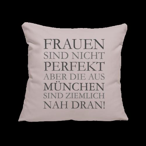 Frauen aus München (Schwarz) Sofakissenbezug - Sofakissenbezug 44 x 44 cm
