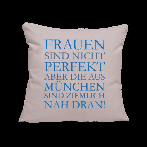 Frauen aus München (Blau) Sofakissenbezug - Sofakissenbezug 44 x 44 cm