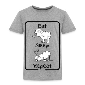 Eat, Sleep repeat - Kinder Premium T-Shirt