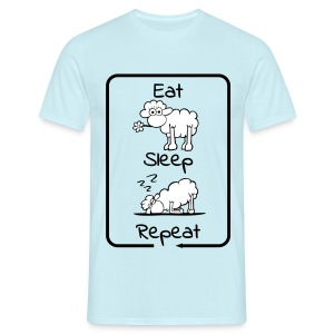 Eat, Sleep repeat - Männer T-Shirt