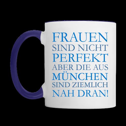 Frauen aus München (Blau) Tasse - Tasse zweifarbig