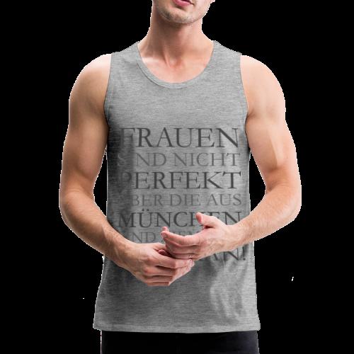 Frauen aus München (Schwarz) Tank Top - Männer Premium Tank Top
