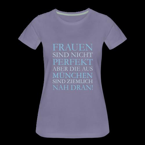 Frauen aus München (Hellblau) S-3XL T-Shirt - Frauen Premium T-Shirt