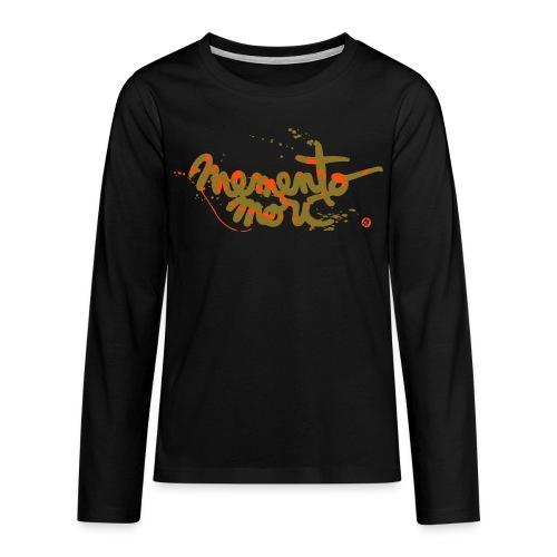Ado / Memento mori - or et orange néon - T-shirt manches longues Premium Ado