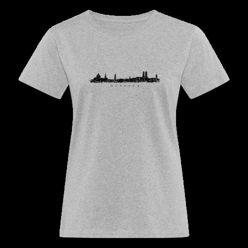 München Skyline (Vintage/Schwarz) Bio T-Shirt - Frauen Bio-T-Shirt