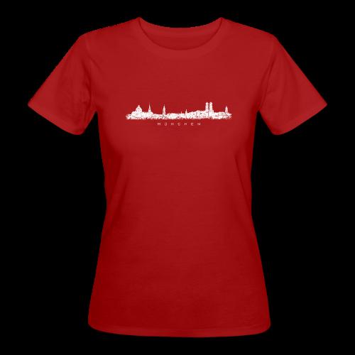 München Skyline (Vintage/Weiß) Bio T-Shirt - Frauen Bio-T-Shirt