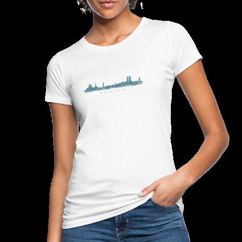 München Skyline (Vintage/Blau) Bio T-Shirt - Frauen Bio-T-Shirt