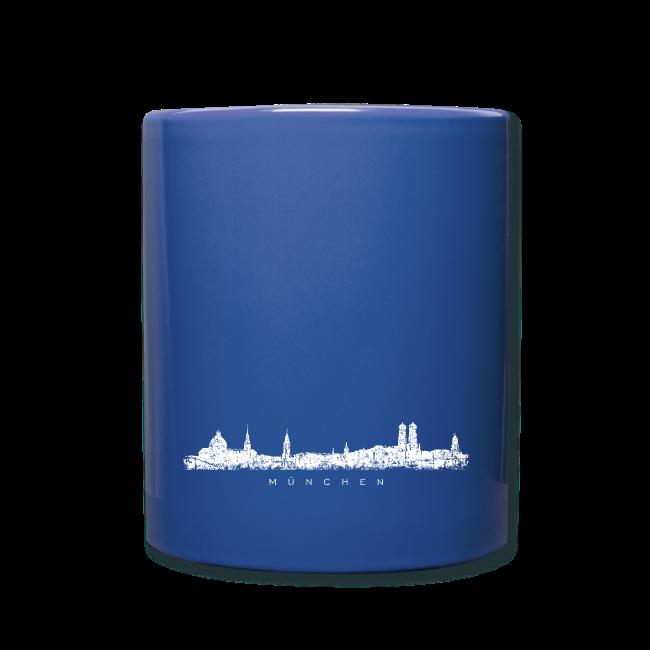 München Skyline (Vintage/Weiß) Tasse