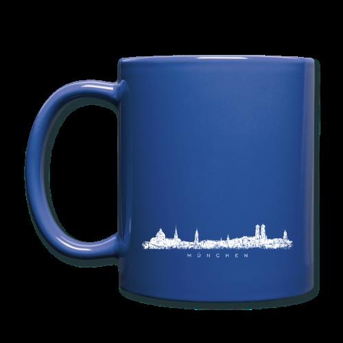 München Skyline (Vintage/Weiß) Tasse - Tasse einfarbig