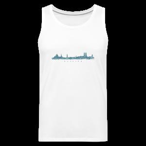 München Skyline (Vintage/Blau) Tank Top - Männer Premium Tank Top
