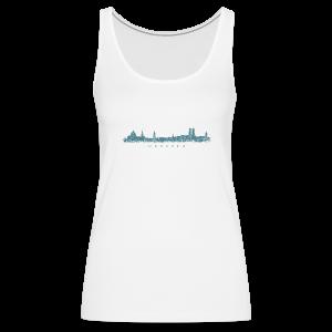 München Skyline Vintage Blau