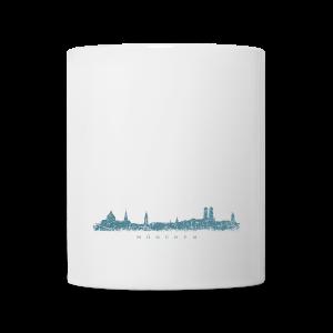 München Skyline (Vintage/Blau) Tasse - Tasse