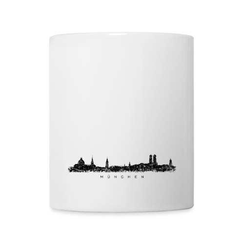 München Skyline (Vintage/Schwarz) Tasse - Tasse