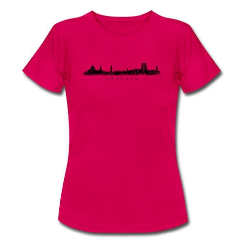 München Skyline (Vintage/Schwarz) T-Shirt - Frauen T-Shirt
