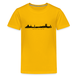 München Skyline (Vintage/Schwarz) Teenager T-Shirt - Teenager Premium T-Shirt