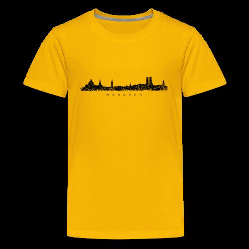München Skyline (Vintage/Schwarz) Teenager T-Shirt - Teenager Premium T-Shirt