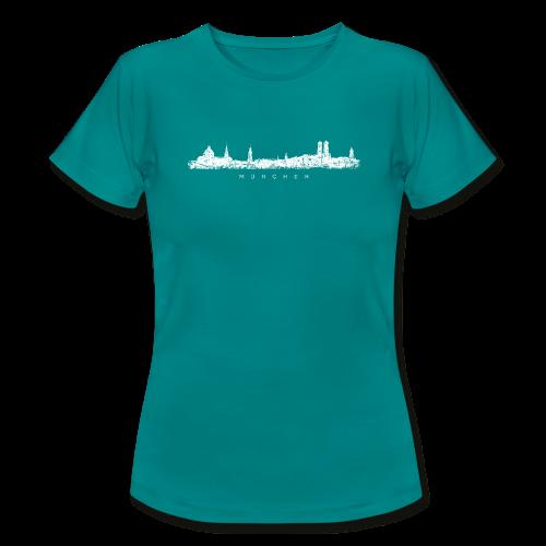 München Skyline (Vintage/Weiß) T-Shirt - Frauen T-Shirt