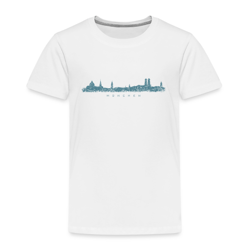 München Skyline (Vintage/Blau) Kinder T-Shirt - Kinder Premium T-Shirt