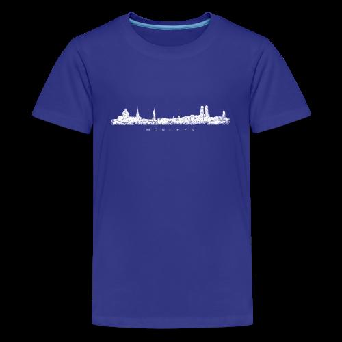 München Skyline (Vintage/Weiß) Teenager T-Shirt - Teenager Premium T-Shirt