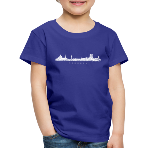 München Skyline (Vintage/Weiß) Kinder T-Shirt - Kinder Premium T-Shirt