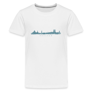 München Skyline (Vintage/Blau) Teenager T-Shirt - Teenager Premium T-Shirt