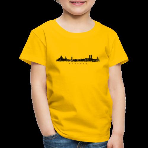 München Skyline (Vintage/Schwarz) Kinder T-Shirt - Kinder Premium T-Shirt