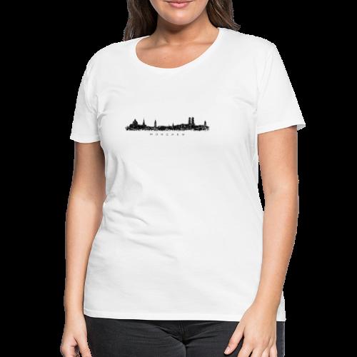 München Skyline (Vintage/Schwarz) S-3XL T-Shirt - Frauen Premium T-Shirt