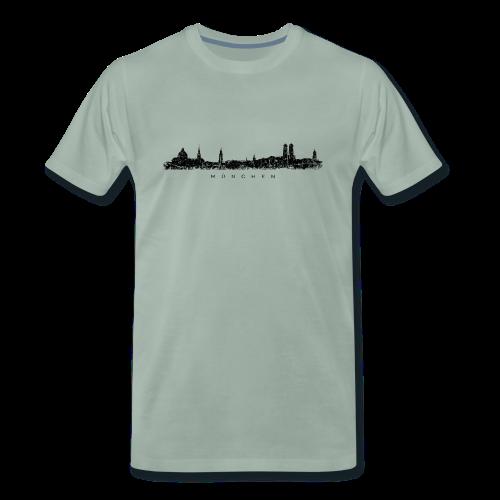 München Skyline (Vintage/Schwarz) S-5XL T-Shirt - Männer Premium T-Shirt