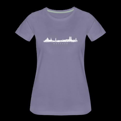 München Skyline (Vintage/Weiß) S-3XL T-Shirt - Frauen Premium T-Shirt