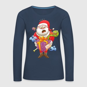 A Christmas Gift from Halloween Creepies to Santa Long Sleeve Shirts - Women's Premium Longsleeve Shirt