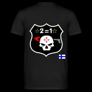 2on1 t-paita, jossa logo paidan selkäpuolella - Miesten t-paita
