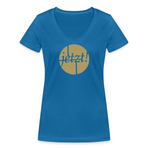 Jetzt! - Frauen Bio-T-Shirt mit V-Ausschnitt von Stanley & Stella