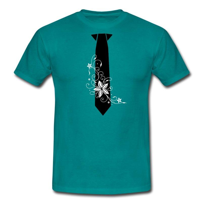 Cravate tribal flowers - Men's T-Shirt