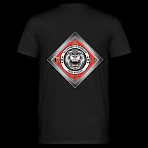 2on1 ry t-paita, logo selkäpuolella - Miesten t-paita