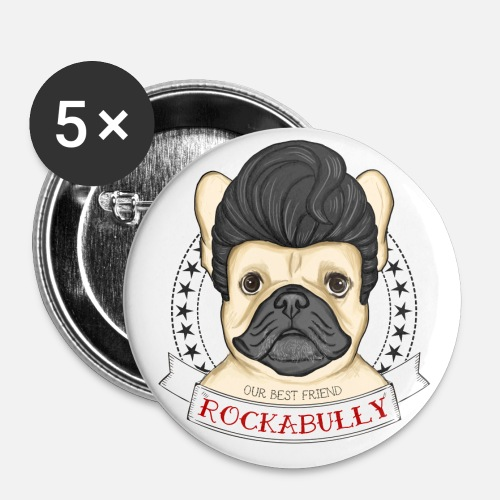Rockabully - Buttons mittel 32 mm - Buttons mittel 32 mm (5er Pack)
