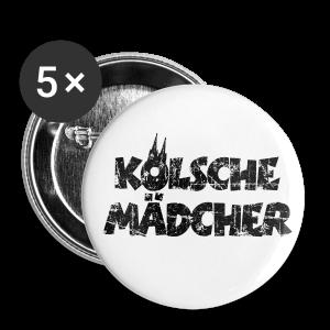 Kölsche Mädcher (Vintage Schwarz) Anstecker (25mm) - Buttons klein 25 mm