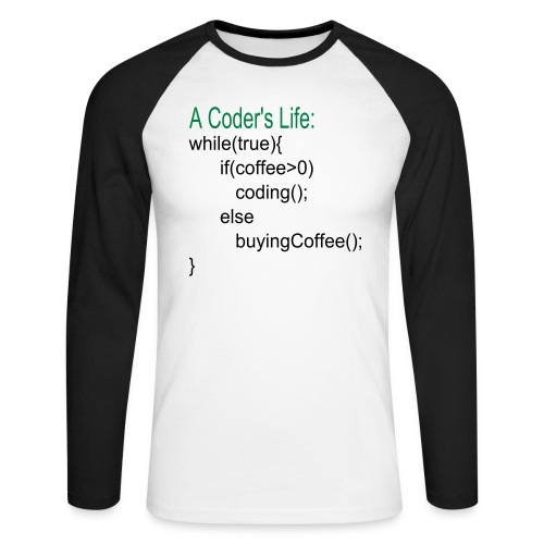 Coder's Life Männer Baseball-Shirt - Männer Baseballshirt langarm