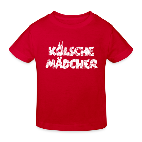 Kölsche Mädcher (Vintage Weiß) Kinder Bio T-Shirt - Kinder Bio-T-Shirt