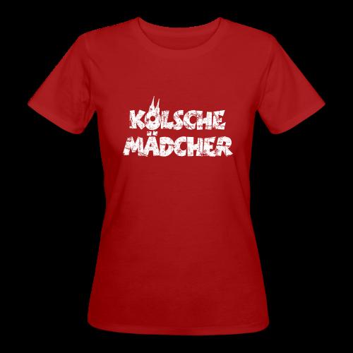 Kölsche Mädcher (Vintage Weiß) Bio T-Shirt - Frauen Bio-T-Shirt