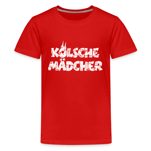 Kölsche Mädcher (Vintage Weiß) Teenager T-Shirt - Teenager Premium T-Shirt