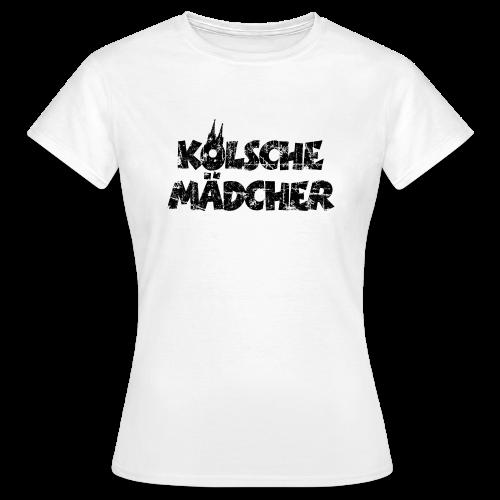 Kölsche Mädcher (Vintage Schwarz) Köln T-Shirt - Frauen T-Shirt