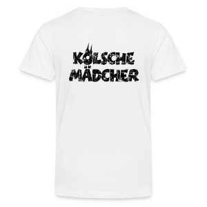 Kölsche Mädcher (Vintage Schwarz) Teenager T-Shirt - Teenager Premium T-Shirt