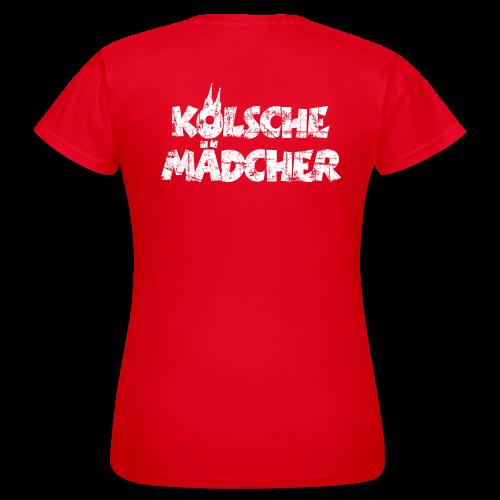 Kölsche Mädcher (Vintage Weiß) Köln T-Shirt - Frauen T-Shirt