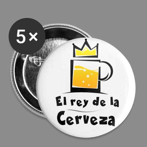 El rey de la cerveza - Paquete de 5 chapas grandes (56 mm)