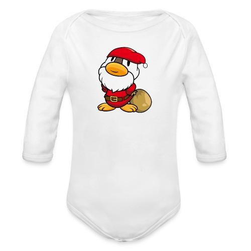 Ente Weihnachtsmann Gans Langarm Body - Baby Bio-Langarm-Body